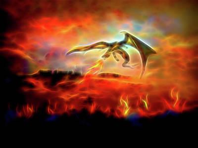 Digital Painting - Burn Them All by Lilia D