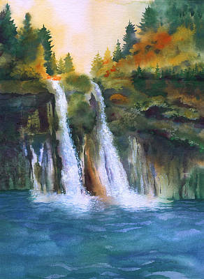 Burney Falls Print by Sylvia Smith