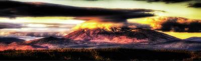 Burney Mountain Sunrise Print by Dennis Adams