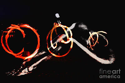 Fired Clay Photograph - Burning Rings Of Fire by Clayton Bruster