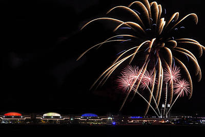Burst Of Fireworks Print by Andrew Soundarajan