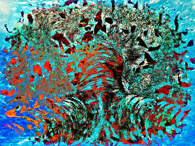 Vivacious Digital Art - Burst Of Joy by Eva Maria Nova