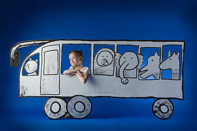 Buses Photograph - Bus Game by Eva Miliuniene