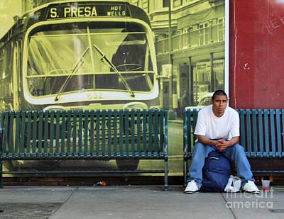 By Joe Jake Pratt Photograph - Bus Stop by Joe Jake Pratt