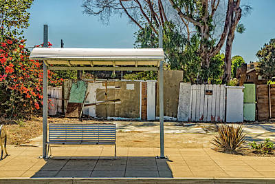 Bus Photograph - Bus Stop  by Peter Tellone