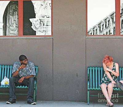 Corporate Art Photograph - Bus Wait by Joe Jake Pratt