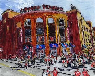 Busch Stadium Original by Phil Strang