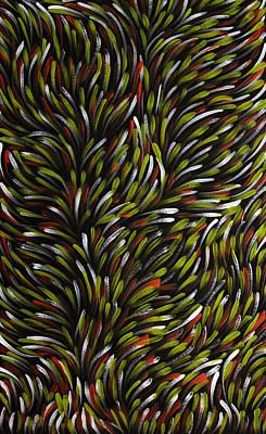 Darwin Painting - Bush Medicine Leaves by Gloria Petyarre