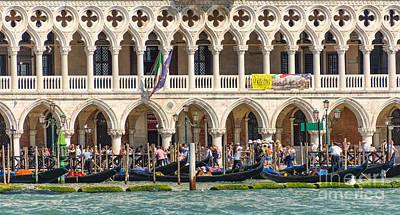 Piazza Mixed Media - Busy Venice by Svetlana Sewell