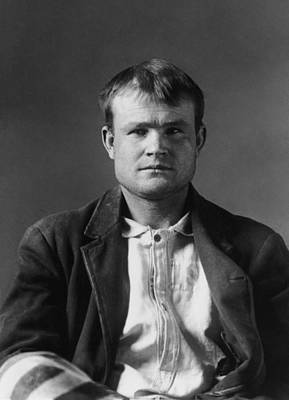 Butch Cassidy Mugshot 1894 Print by War Is Hell Store