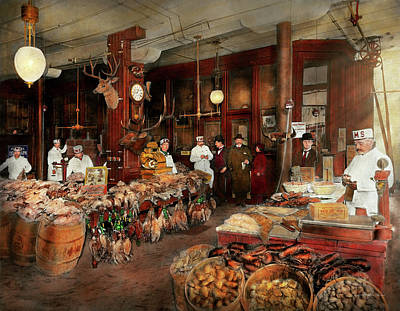 Butcher - The Game Center 1895 Print by Mike Savad