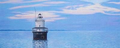 Seacoast Drawing - Butler Flats Light by Robert Sewell