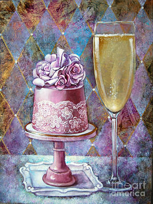 Butter Cream Rose Cake Print by Geraldine Arata