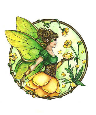 Fairy Painting - Buttercup by Lindsey Cormier
