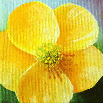 Nature Painting - Buttercup by Sharon Marcella Marston