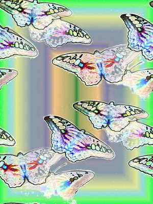 Butterflies In The Vortex Print by Tim Allen