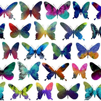 Butterflies Print by Varpu Kronholm