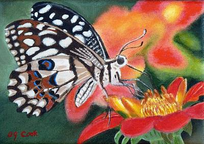 Dingy Painting - Butterfly Beauty by Donna Cook