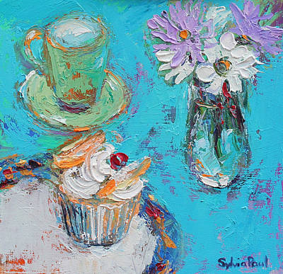 Muffins Painting - Butterfly Cake by Sylvia Paul