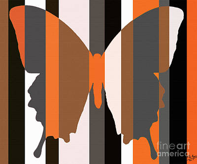 Striped Butterfly Painting - Butterfly Composition 1128 by Flo Ryan