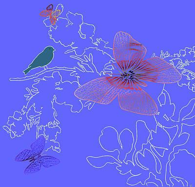 Natures Wonderful Colors Digital Art - Butterfly Floral 1 by Debra     Vatalaro