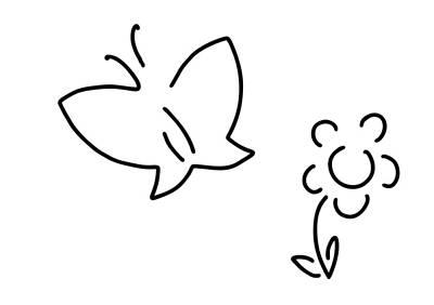 Flutter Drawing - Butterfly Flower Butterfly Caterpillar by Lineamentum