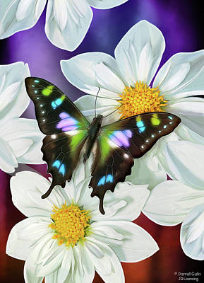 Insect Painting - Butterfly Flowers by JQ Licensing
