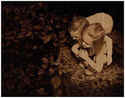 Butterfly Girls Original by Steven Hawkes
