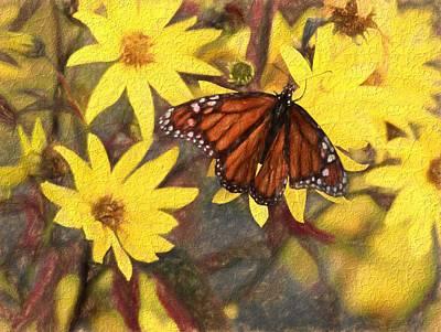 Butterfly Mixed Media - Butterfly In Summer by Dan Sproul
