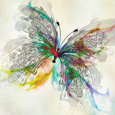 Abstract Digital Art Digital Art - Butterfly by Klara Acel