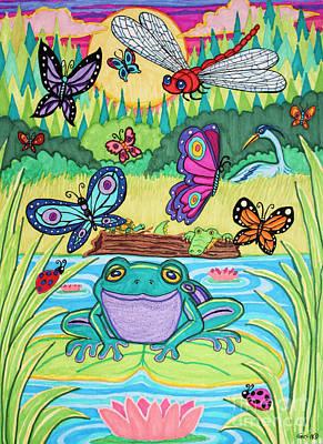 Alligator Drawing - Butterfly Lake by Nick Gustafson