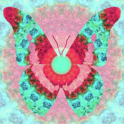 Butterfly Mandala 3 Art By Sharon Cummings Print by Sharon Cummings