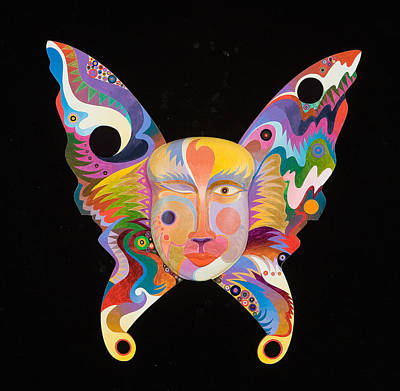 Abstract Realism Painting - Butterfly Mask by Bob Coonts