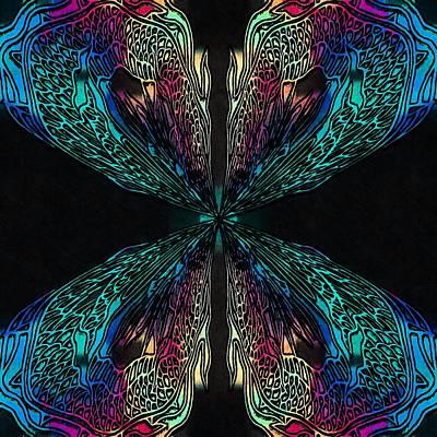 Ipad Design Digital Art - Butterfly Of Chaos by Susan Maxwell Schmidt