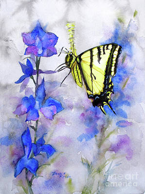 Blue Swallowtail Painting - Butteryfly Delight by Bonnie Rinier