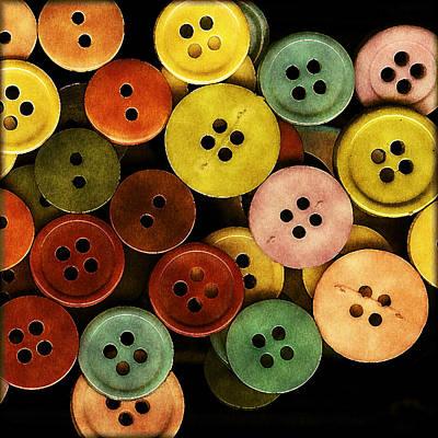 Terra Cotta Digital Art - Button Button by Bonnie Bruno