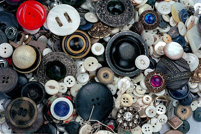 Old Machines Photograph - Buttons by Jerry McElroy