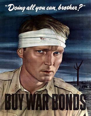 Patriotic Mixed Media - Buy War Bonds by War Is Hell Store