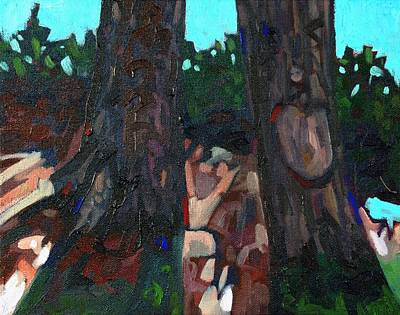 Buzzard Painting - Buzzard Twins by Phil Chadwick