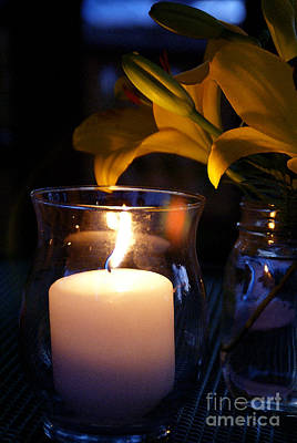 Candle Lit Digital Art - By Candlelight by Linda Knorr Shafer