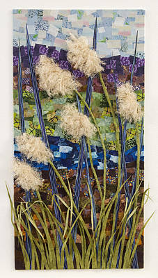 Fabric Mixed Media - By The Banks by Julia Berkley