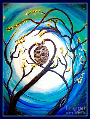 By The Light Of The Moon I Will Find You Print by Kimberlee Baxter