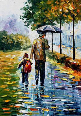 By The Rain Original by Leonid Afremov