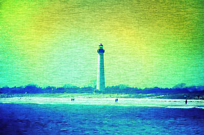 By The Sea - Cape May Lighthouse Print by Bill Cannon