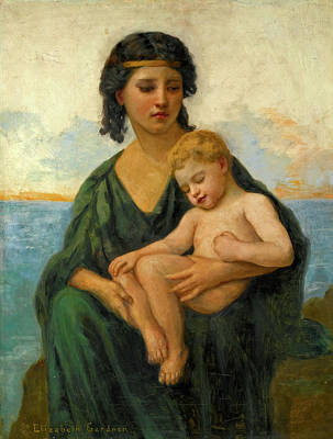 Elizabeth Jane Gardner Painting - By The Seaside by Elizabeth Jane Gardner Bouguereau