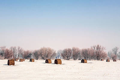 Winter Photograph - Bygone Bales by Todd Klassy