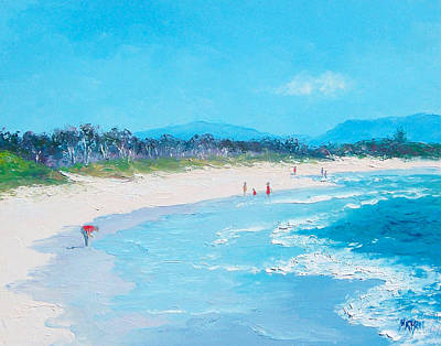 Summer Painting - Byron Bay Morning By Jan Matson by Jan Matson