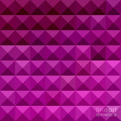 Byzantine Purple Abstract Low Polygon Background Print by Aloysius Patrimonio