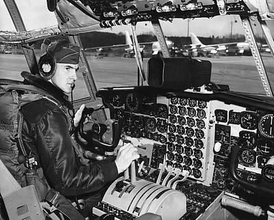 Cockpit Photograph - C-130 Cockpit by Underwood Archives