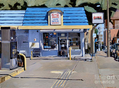 Gas Station Painting - C And G by Deb Putnam